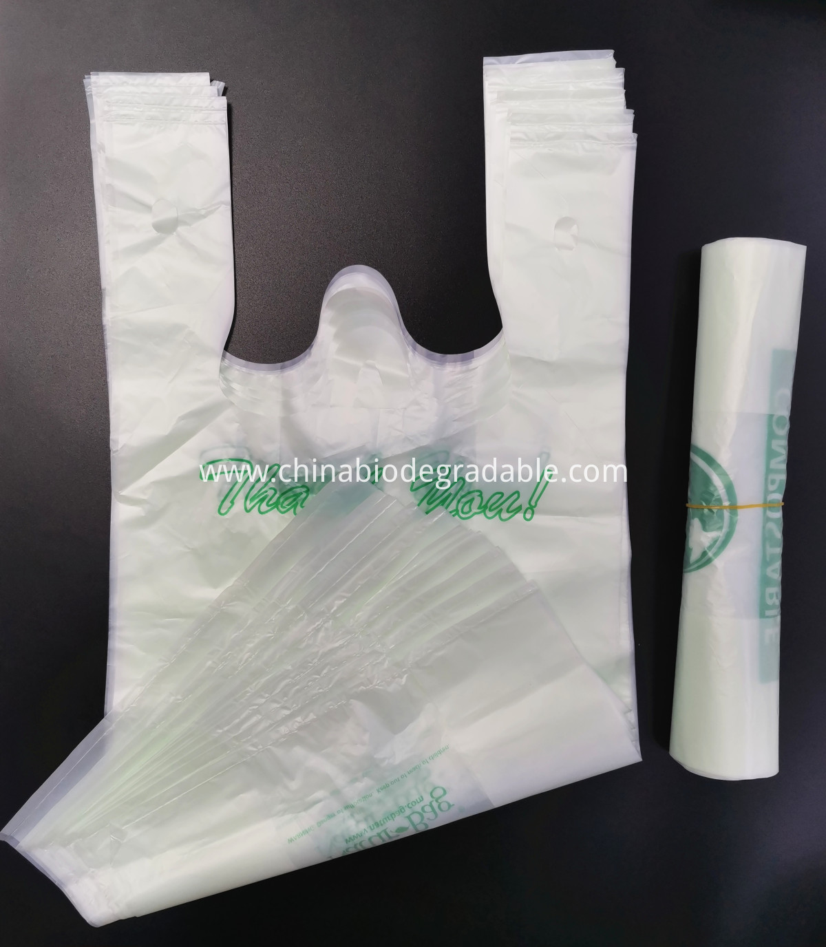 Bioplastic T-shirt Handle Shopping Bag