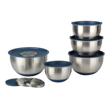 Stainless Steel Nesting Mixing Bowls with Lid