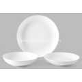 10.5-Inch ,26.5-cm White Porcelain coupe serving plate