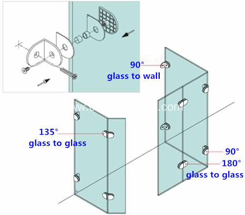 Glass Clamps and Supports for 8-10mm Glass