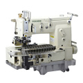 12-needle Flat-bed Double Chain Stitch Sewing Machine (tuck fabric seaming)