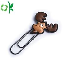 High Quality Cartoon Silicone Clip Bookmark for Promotion