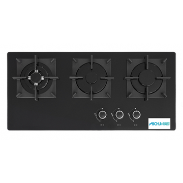 Black Color Panel Cooking Hob Glass
