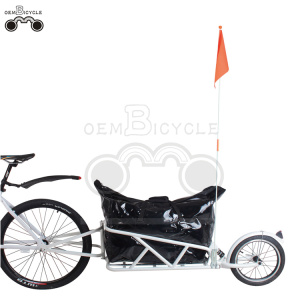 16' wheels-quick release cargo trailer bike With suspension