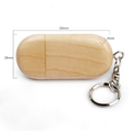 Wooden Usb Flash Drive with Free Logo