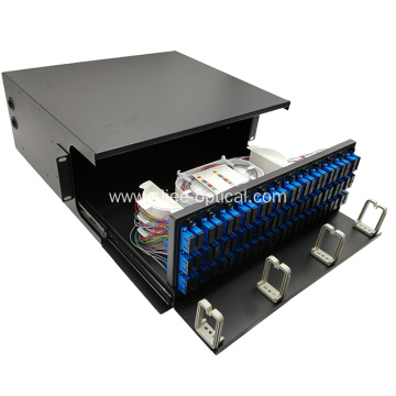 "19"" 144 Core 4U Rack Mount Fiber Distribution Unit Box"