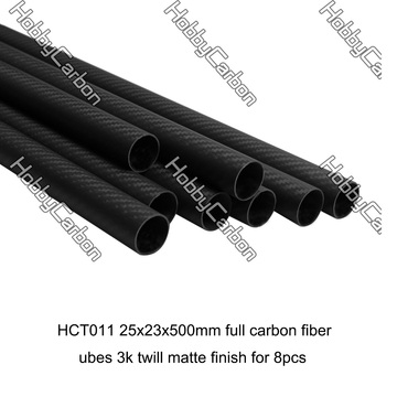 25x23x500mm 3k twill matte carbon fiber tube