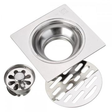 Bathroom and Square Stainless steel floor drain