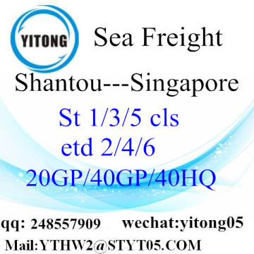 Shenzhen Sea Freight to Singapore