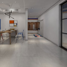 Grey marble effect porcelain floor tiles