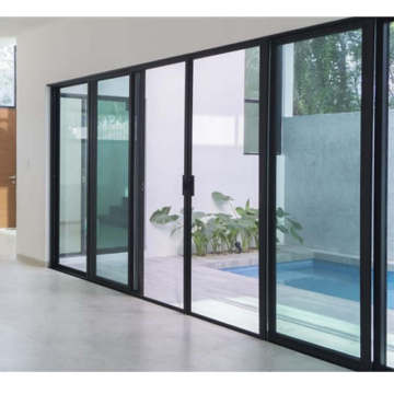 Lingyin Construction Materials Ltd High quality aluminum large glass windows aluminium sliding glass door