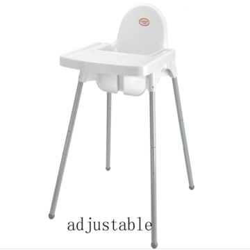 Baby plastic djustable dining chair