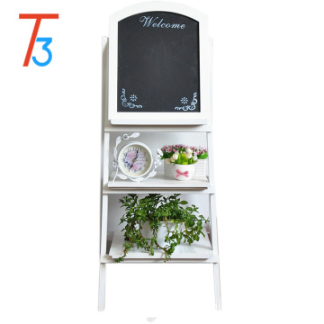 OEM/ODM for Flower Shelf Factory wooden flower shelf with black board for sale export to France Wholesale