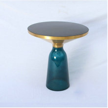 Brass Bell side Table by sebastian herkner