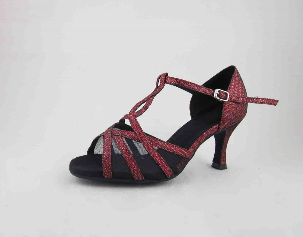 Ladies Red Dance Shoes With Mesh