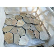 Leading for Paving Stones Honey gold slate flagstone mats export to Spain Manufacturers