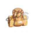 Brass solder swing check valves