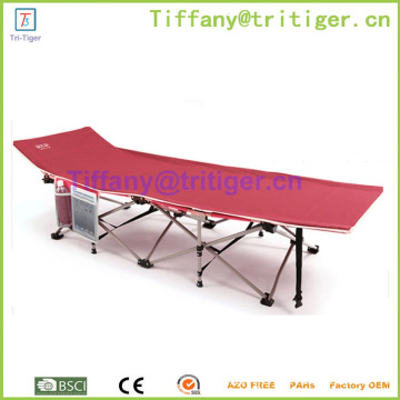 Lightweight steel tubes Portable Camping Bed Folding Single Bed Wholesale
