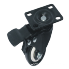 3 Inch Plate Swivel TPR Material With Brake Small Caster