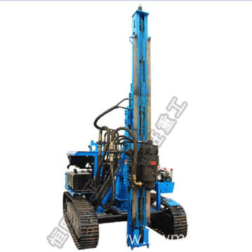 Multi-function reliable crawler small rotary pile driver
