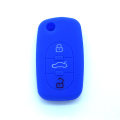 Custom silicone rubber car key case for Audi