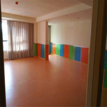 Solid color Kids kindergarten used PVC floor