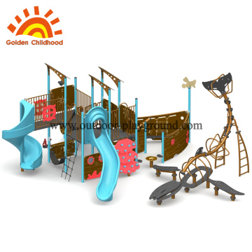 Quality castle outdoor play gym commercial kids
