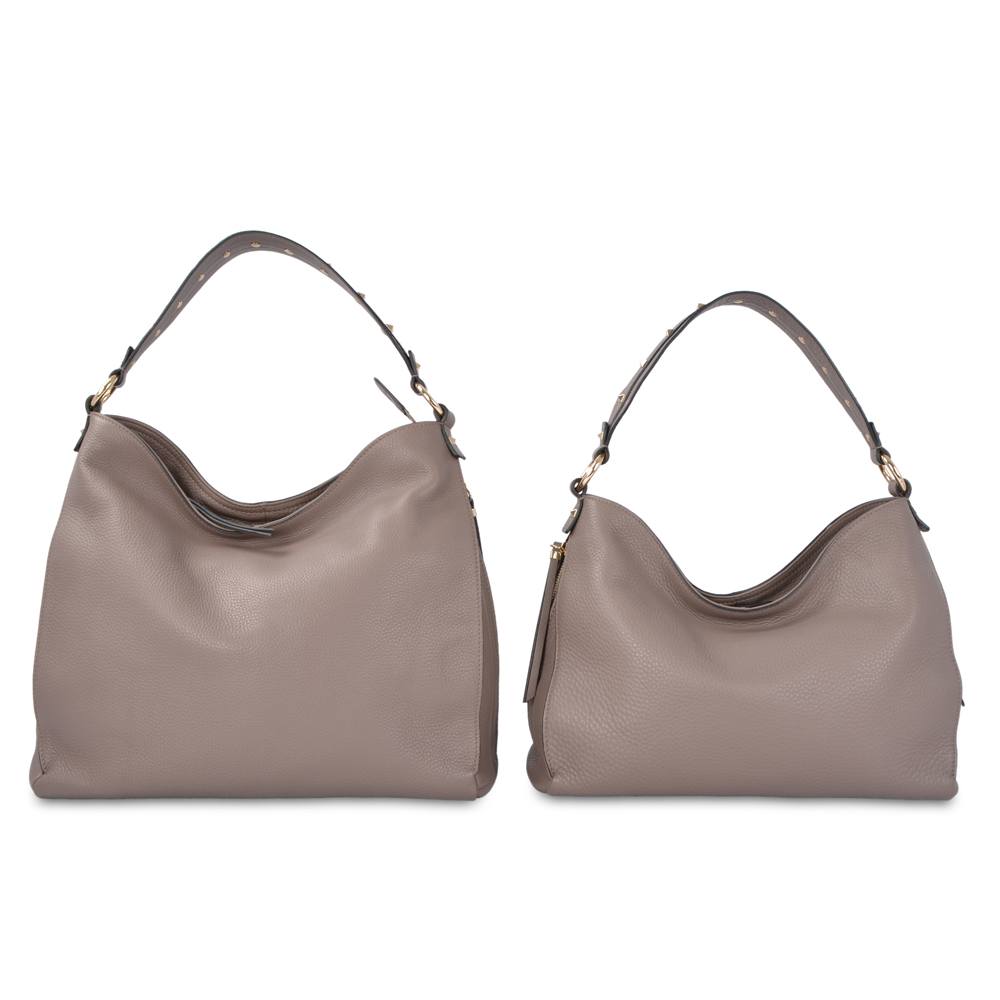 Leather hobo bag women genuine leather bag for ladies
