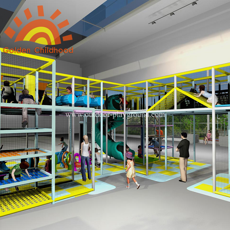 large structure indoor playground