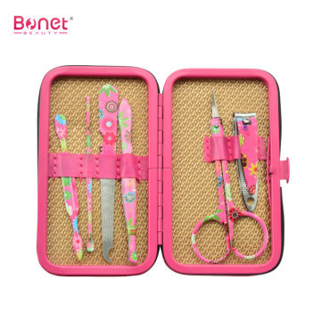 6pcs fashion color travel manicure set