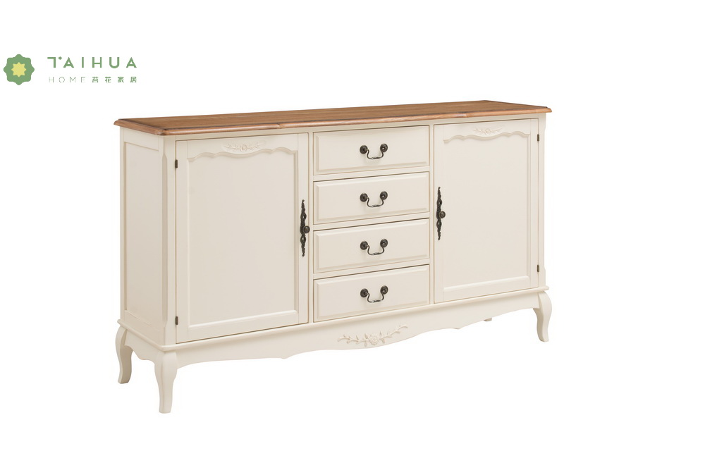Solid Wood Chest 4 Drawers