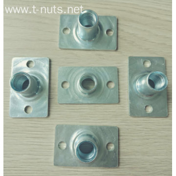 Parts with Square Bottom Two Holes T Nuts