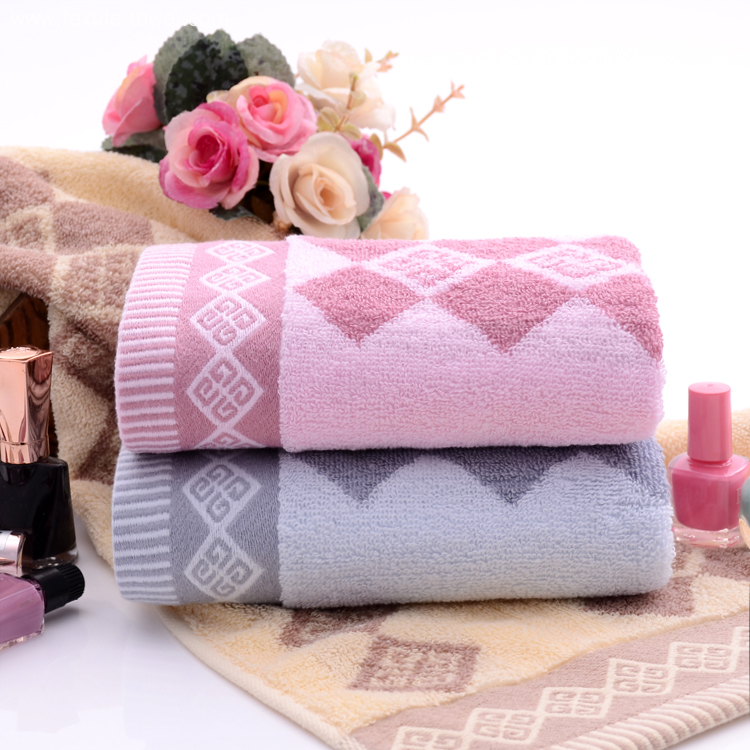 Pink Towels on Sale with Diamond Shaped