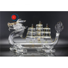 China for Craft Glass Bottle 500ml Glass Bottle of Dragon Boat Sailing liquor export to Vanuatu Factory
