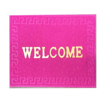 Classic design non slip cheap welcome door mat