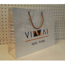 Custom Nylon Handle Shopping Paper Bag