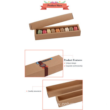 Custom Logo Brown Kraft Paper Macarons Packaging Box