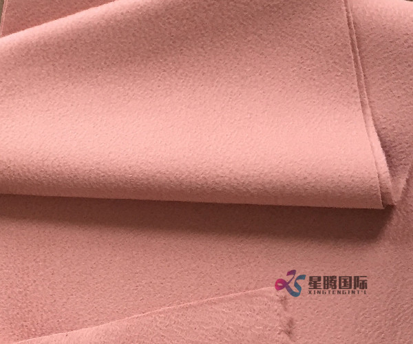 Pink 100% Wool Fabric