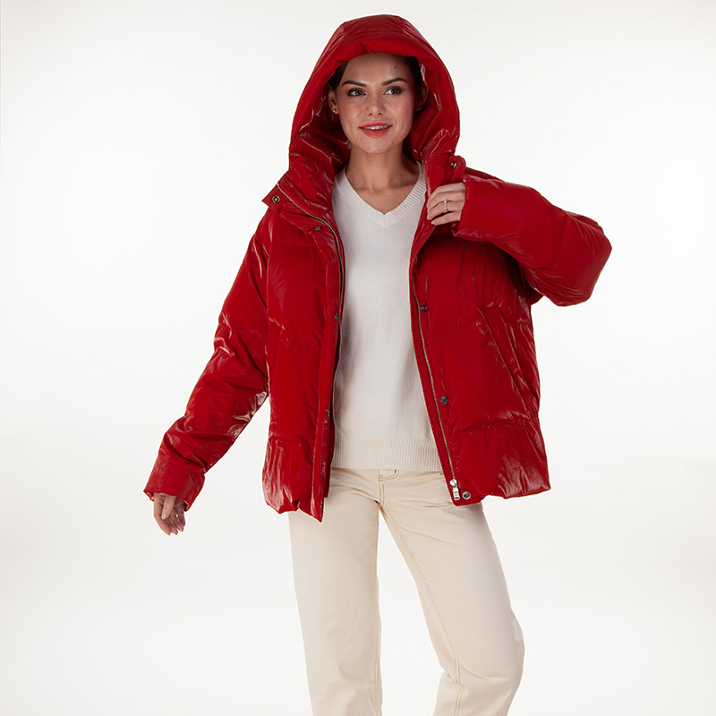 Red trend down jacket