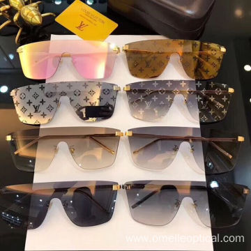 Rimless Sunglasses Goggle Sunglasses For Women