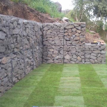 Gabion Cages With Stone Rock Filled