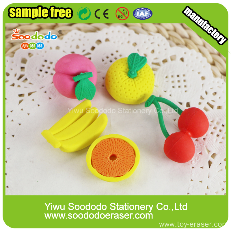 Orange Shaped Kids Erasers,puzzle stationery set