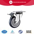 Swivel With Brake TPR Stainless Steel Caster