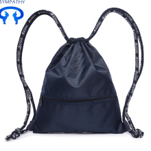 Custom pull rope nylon backpack travel bag