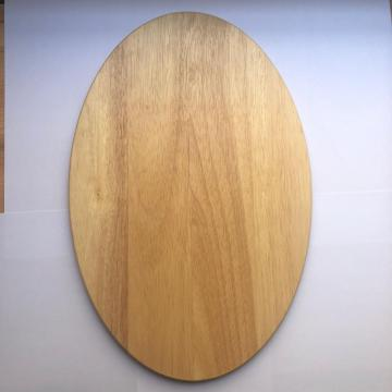 Oval shape wooden cutting board