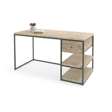 Hot on Amazon Modern Simple Design Computer Table with Bookshelf