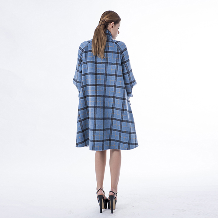 Vogue Plaid Blue Cashmere Winter
