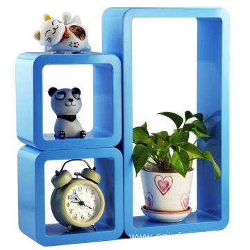 Floating Wall Shelf (Blue, Set of 3)