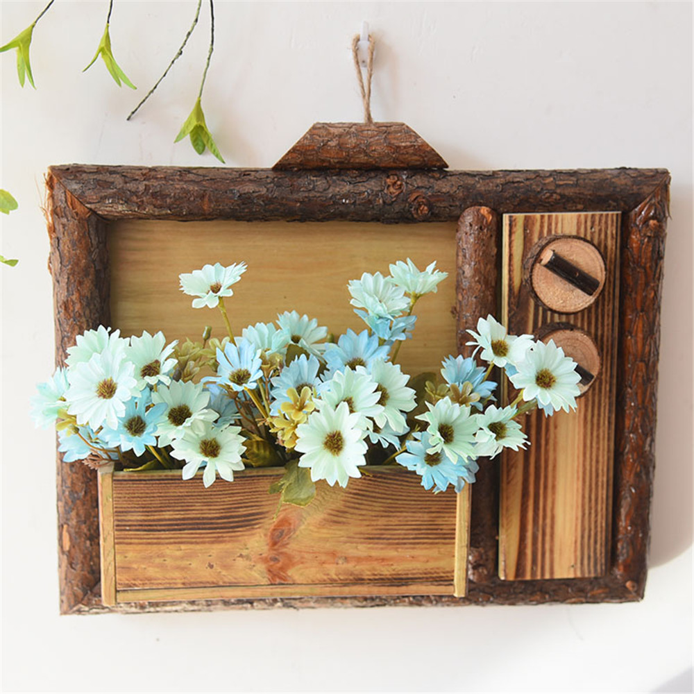 rustic style wooden wall hanging