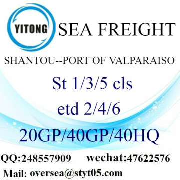 Shantou Port Sea Freight Shipping To Port of Valparaiso